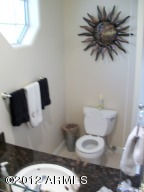 Half-Bath off patio & Laundry room