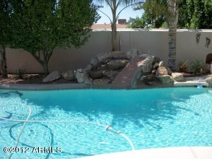 Water Feature at pool