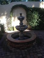 FOUNTAIN WITH PAVERS ON PATIO