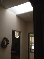Skylight ceiling to back door