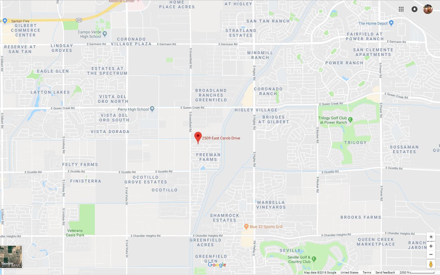 MLS 5776824 2509 E CAROB Drive, Gilbert, AZ 85298 Gilbert AZ Freeman Farms