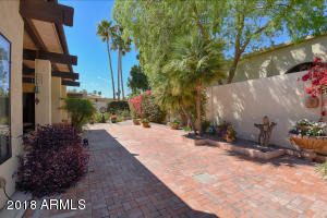 Backyard brick paving