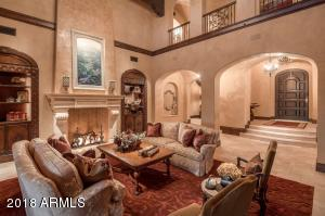 Grand Living Room With Vaulted Ceiling