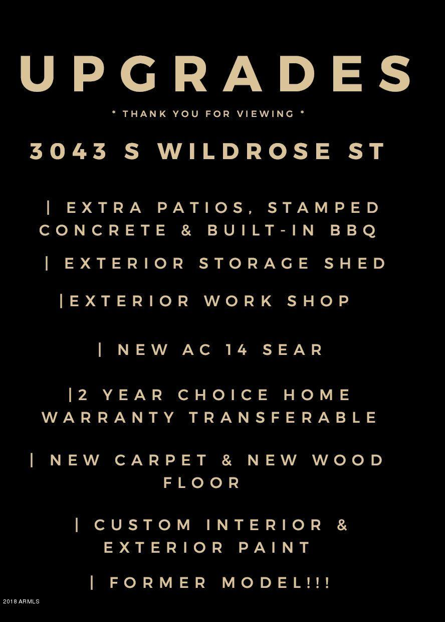 MLS 5833611 3043 S WILDROSE Street, Mesa, AZ 85212 Mesa AZ Santa Rita Ranch