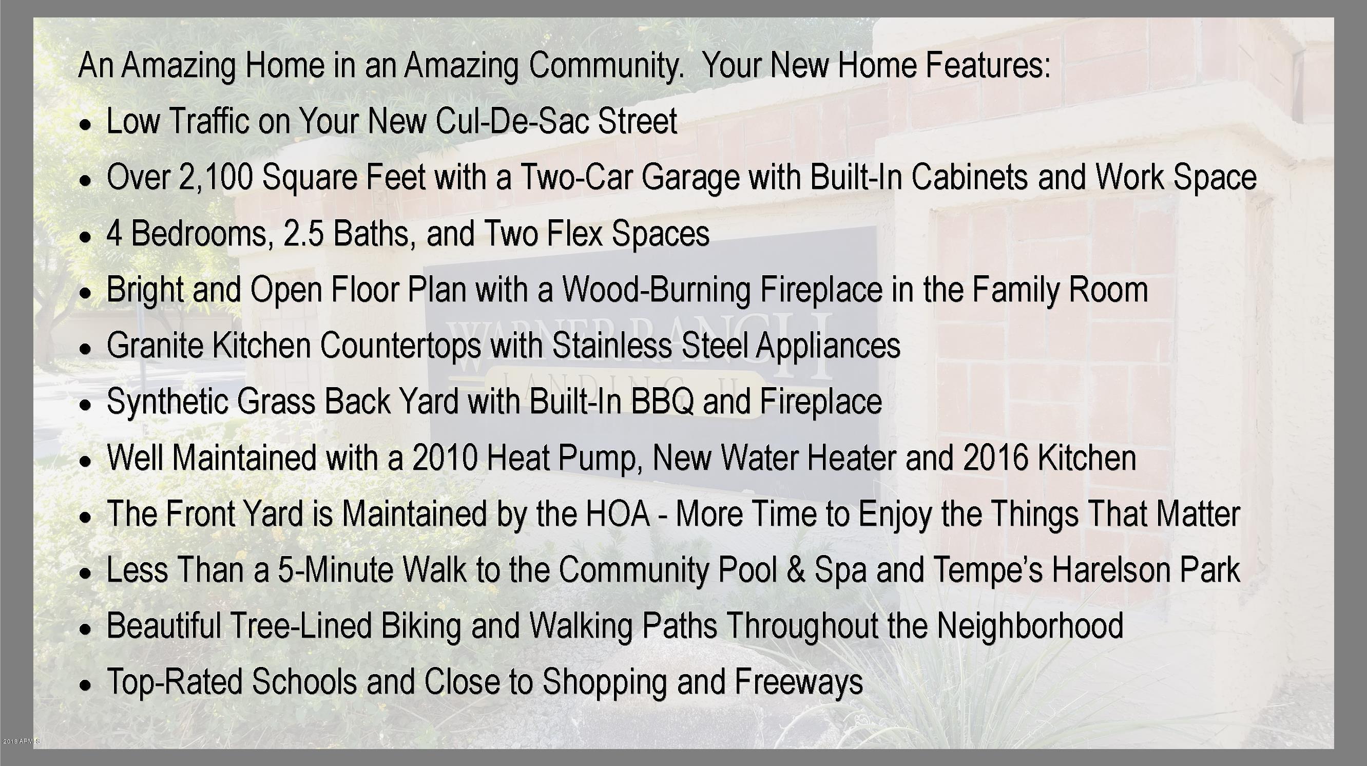 MLS 5848286 9567 S ASH Avenue, Tempe, AZ 85284 Tempe AZ Warner Ranch