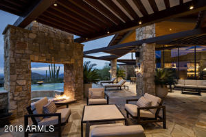 Patio Fireplace Area