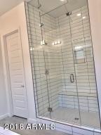 Master bath walk in shower with floor to