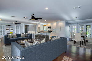 Great room opens to Kitchen and dining