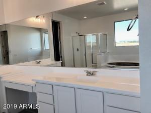Master Bath with seperate tub and walk i