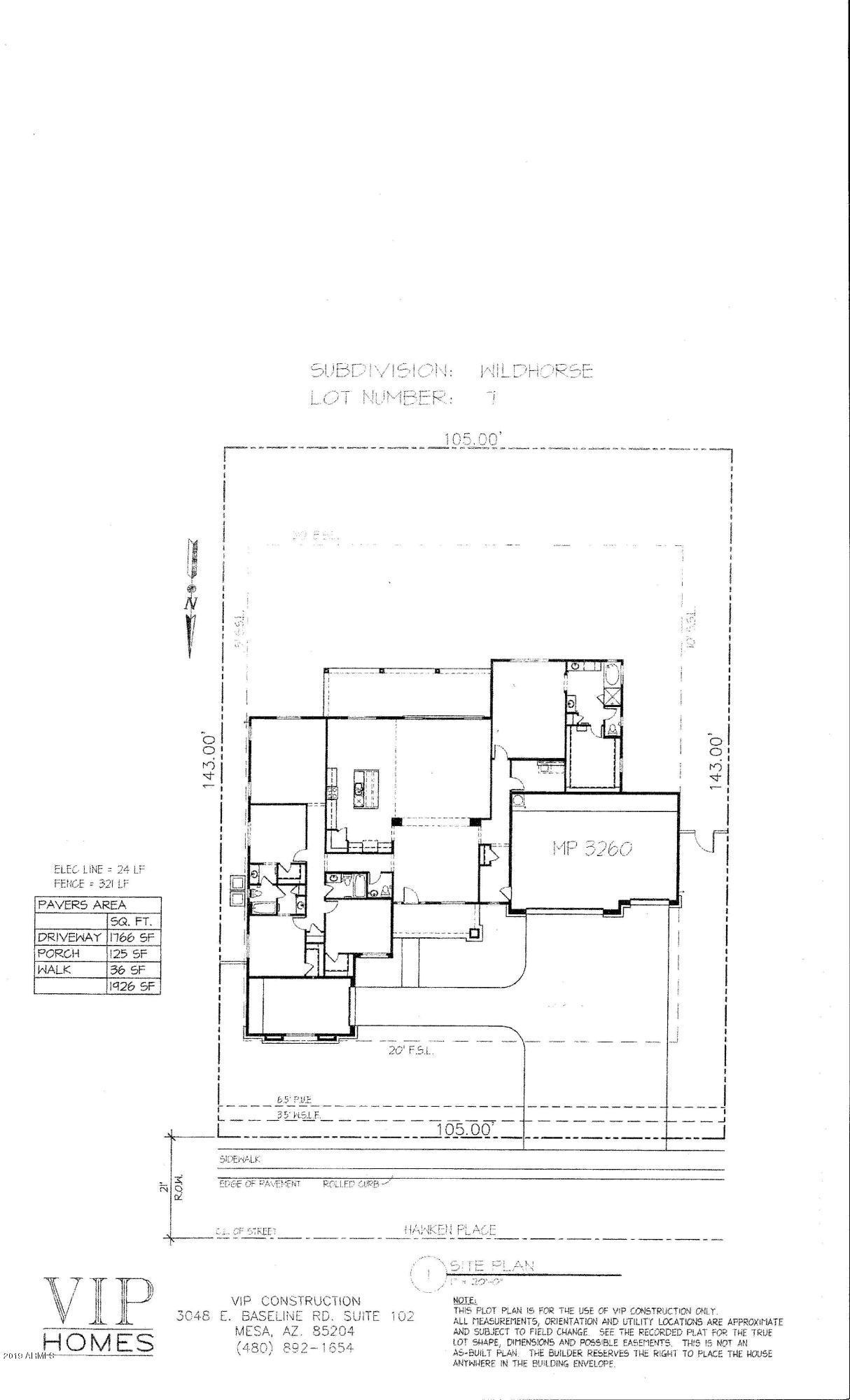 MLS 5910895 2455 W HAWKEN Place, Chandler, AZ 85286 Newly Built