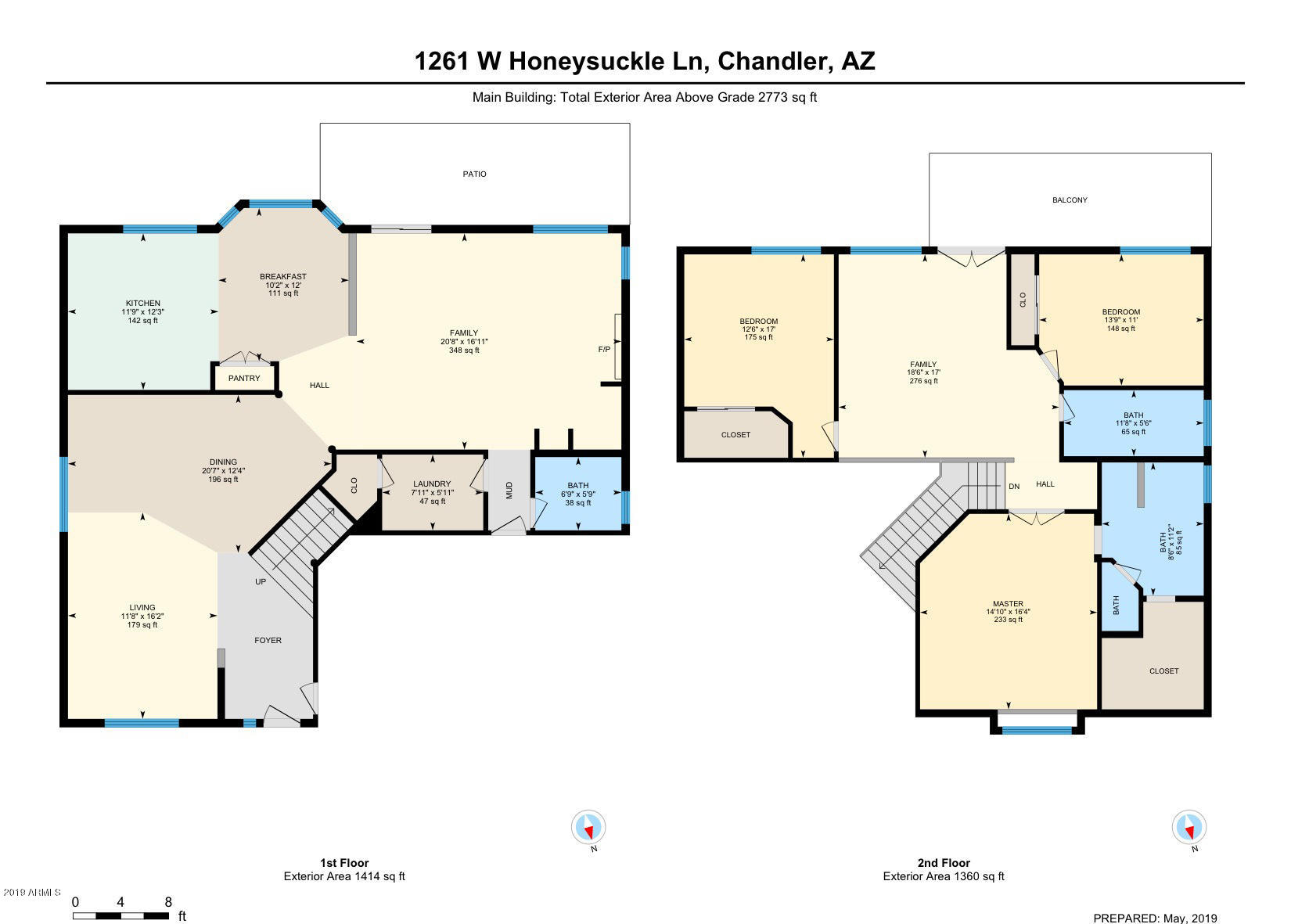MLS 5871234 1261 W HONEYSUCKLE Lane, Chandler, AZ 85248 3 Bedroom Homes