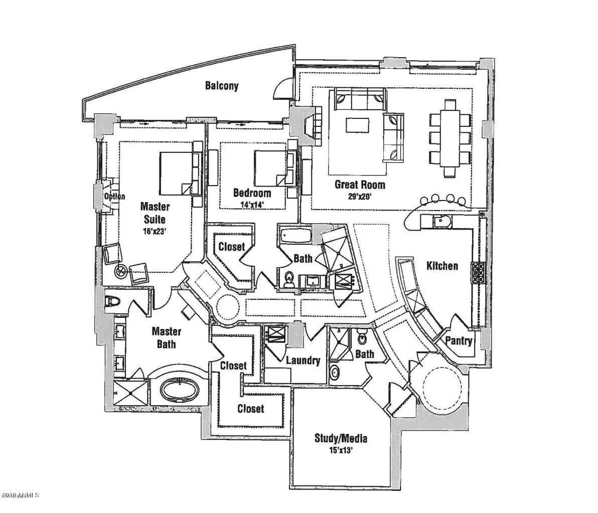 MLS 5970171 2211 E CAMELBACK Road Unit 301, Phoenix, AZ 85016 Phoenix AZ Three Bedroom