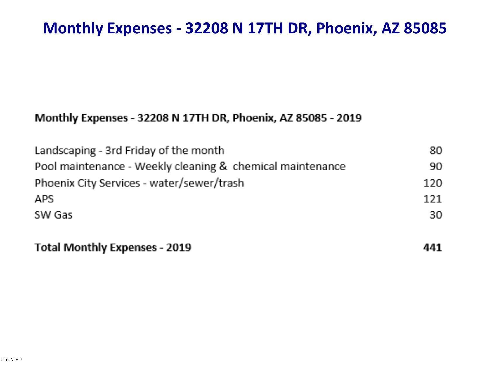 MLS 5962790 32208 N 17th Drive, Phoenix, AZ 85085 Phoenix AZ Sonoran Foothills