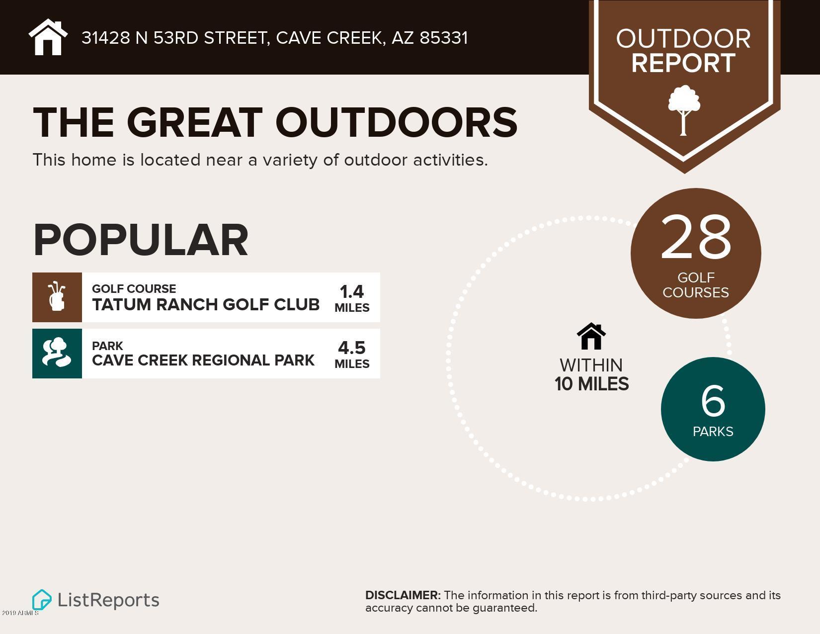 MLS 5966755 31428 N 53RD Street, Cave Creek, AZ 85331 Cave Creek AZ Golf
