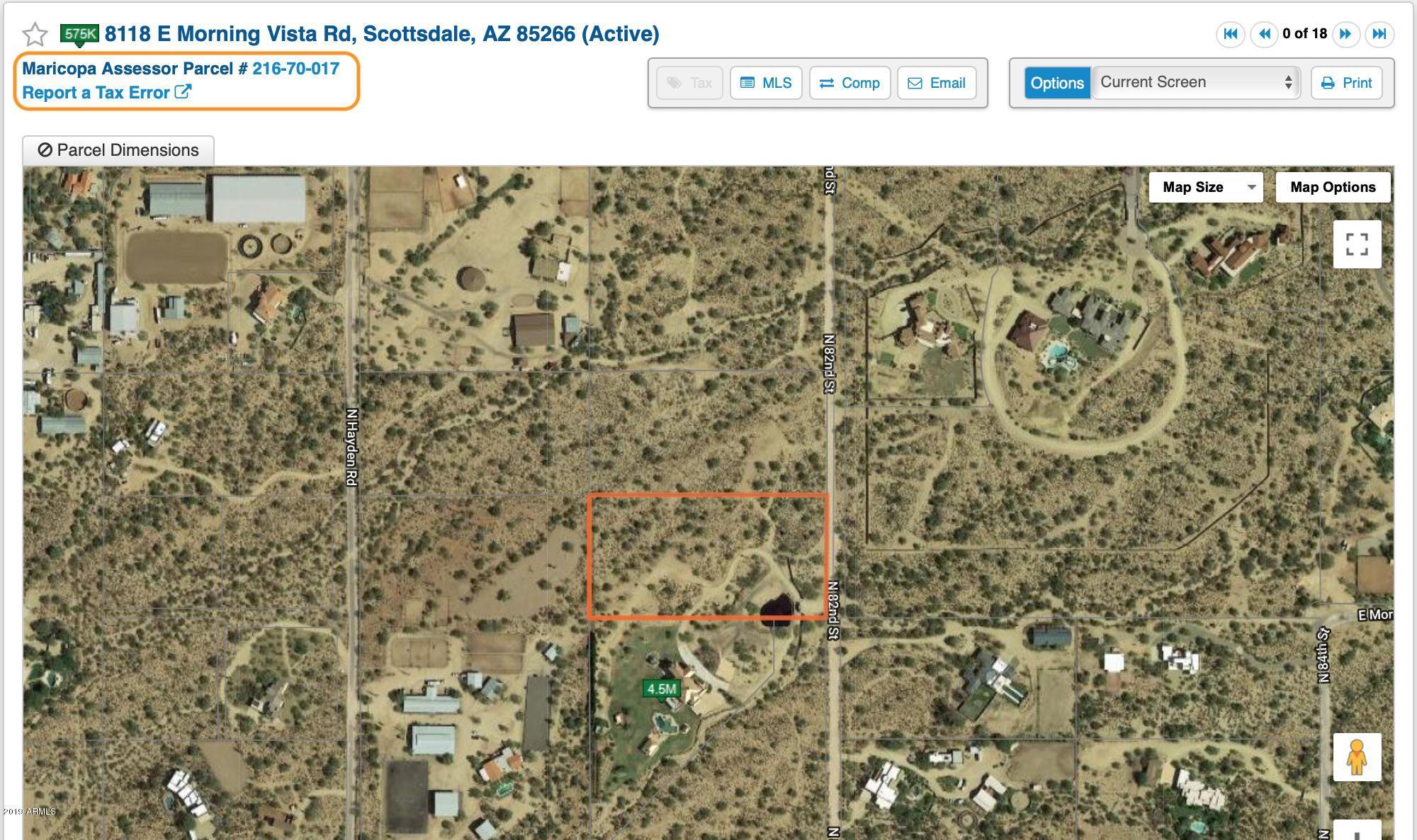 MLS 5922099 8151 E MORNING VISTA Road, Scottsdale, AZ Scottsdale AZ Equestrian