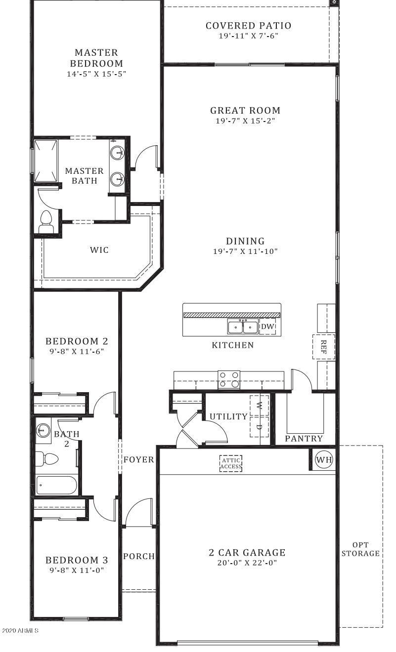 MLS 6099407 262 S SAN JOSE Lane, Casa Grande, AZ 85194 Casa Grande AZ Three Bedroom