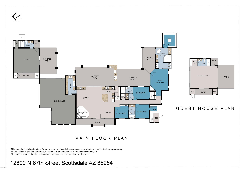 MLS 6137714 12809 N 67TH Street, Scottsdale, AZ 85254 Scottsdale AZ Desert Estates