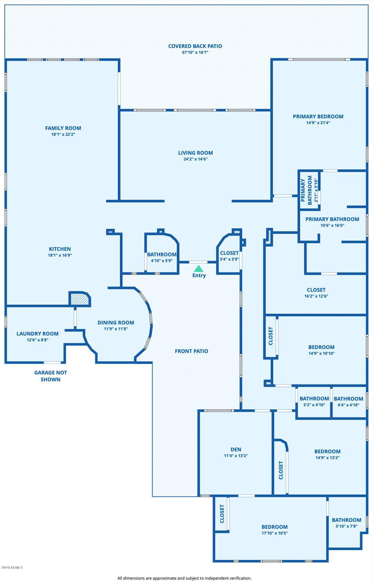 MLS 6154594 6028 N 186TH Avenue, Waddell, AZ 85355 Waddell AZ One Plus Acre Home