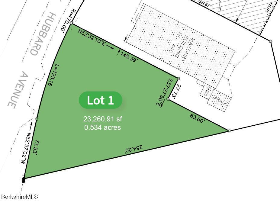 446 Hubbard Ave., Lot 1  Pittsfield MA 01201