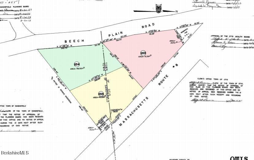 No. Beech Plain and So Main Rd Otis MA 01253