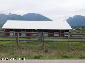 East side of barn