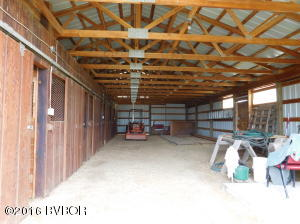 Inside of barn looking South
