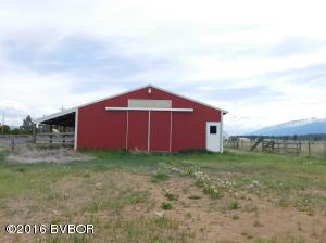 N end of barn