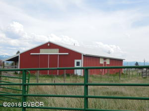 SE view of barn