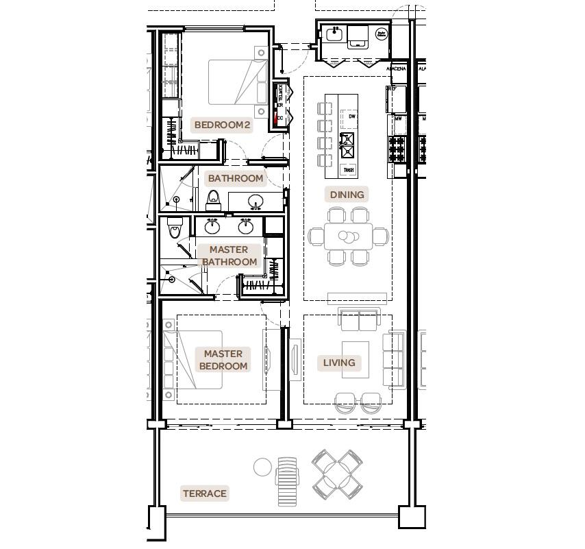 Pacific, 2 Bedrooms Bedrooms, 5 Rooms Rooms,2 BathroomsBathrooms,Condo,For Sale,Copala Condo,18-811