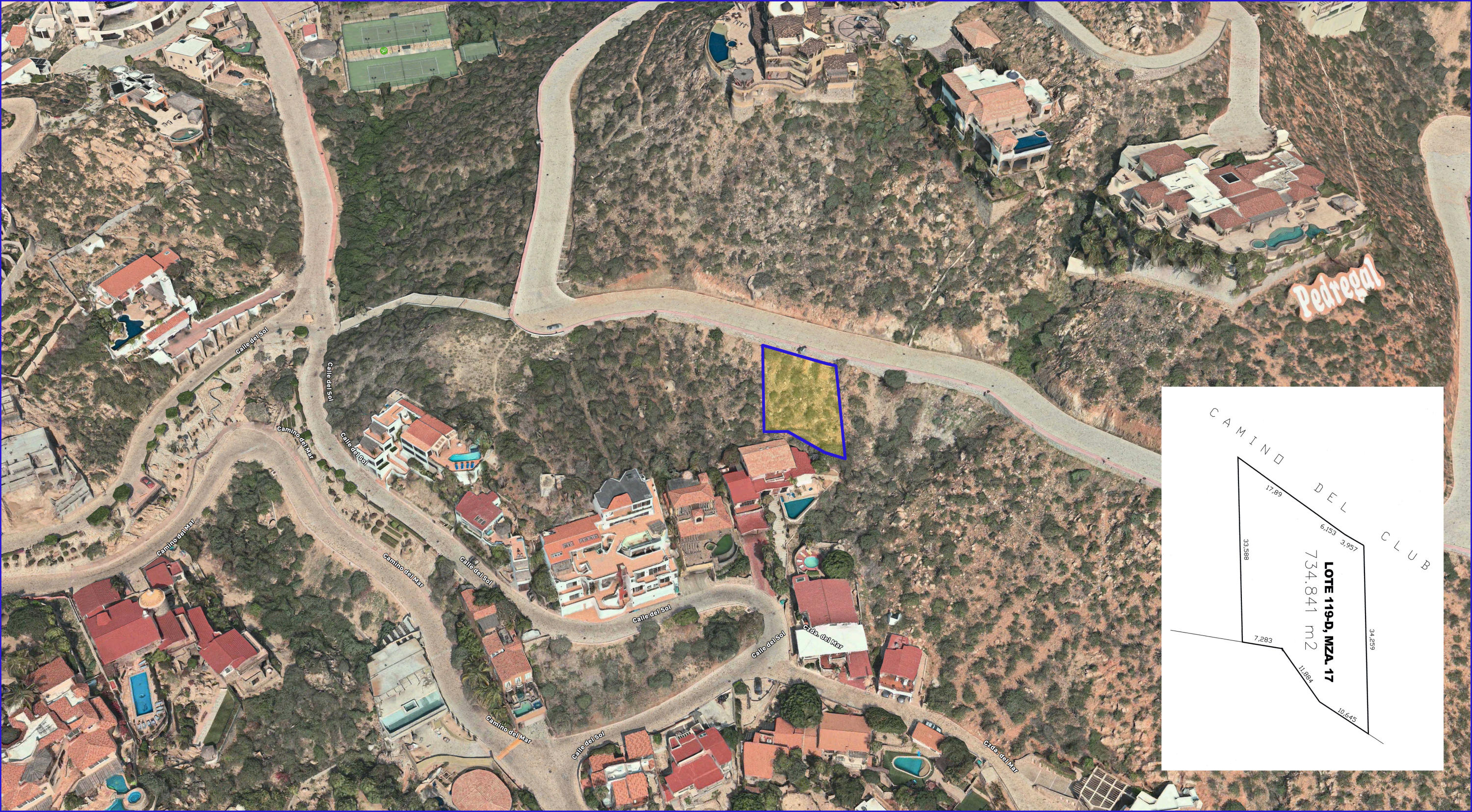 Cabo San Lucas, ,Land,For Sale,Camino del Club, Lot 119D/17,19-1412