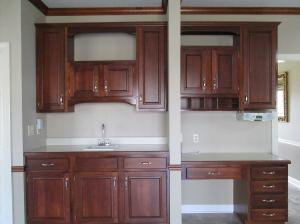 Property Photo: Wet Bar & Desk Area in Kitchen