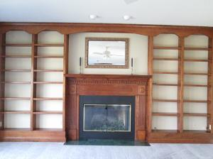 Property Photo: Built-ins surround Fireplace