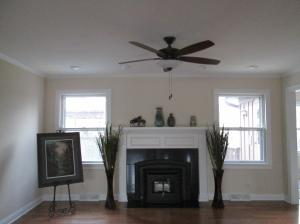 Property Photo: Pellet Stove in Family Room