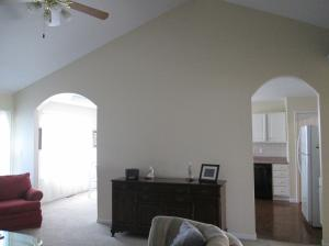Property Photo: Living Room Arched Openings