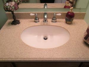 Property Photo: Guest Bath Onyx Counter