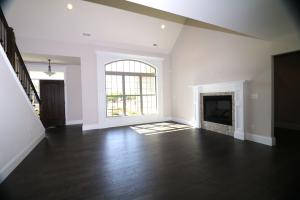 Property Photo: Living Room with Gas FP