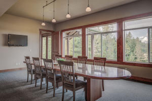 Huge Dining room w/ a view of Chase Lake