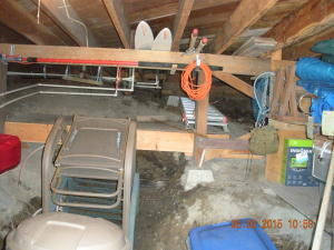 Storage in crawl space