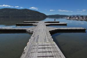 Dock with 6 boat slips