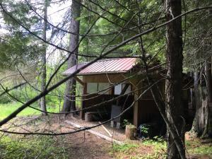 Warming Hut by Creek