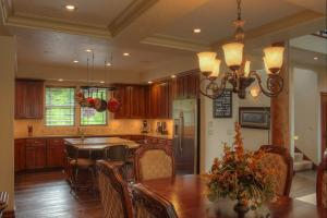 Kitchen flows to the dining room