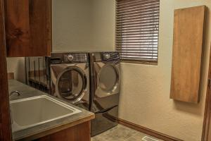 Laundry with custom cabinetry