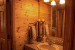 Great cabin style bathrooms