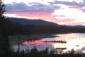 Sunset Over Chase Lake