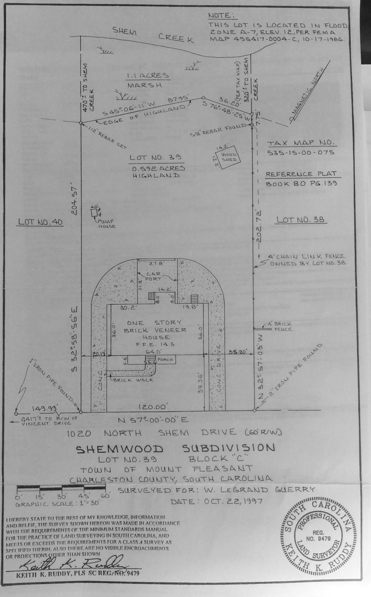 Shemwood Homes For Sale - 1020 Shem, Mount Pleasant, SC - 1