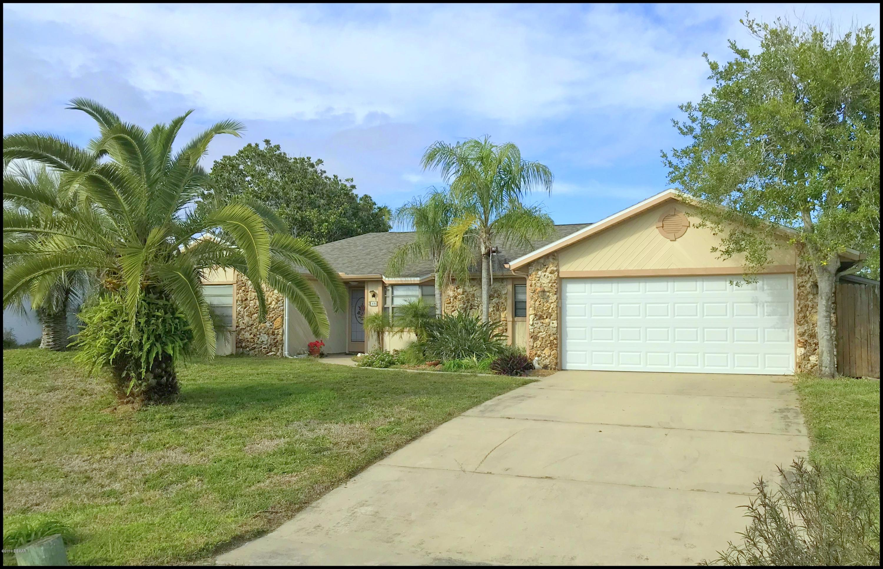 48 N Sea Island Drive, Ormond-By-The-Sea in Volusia County, FL 32176 Home for Sale
