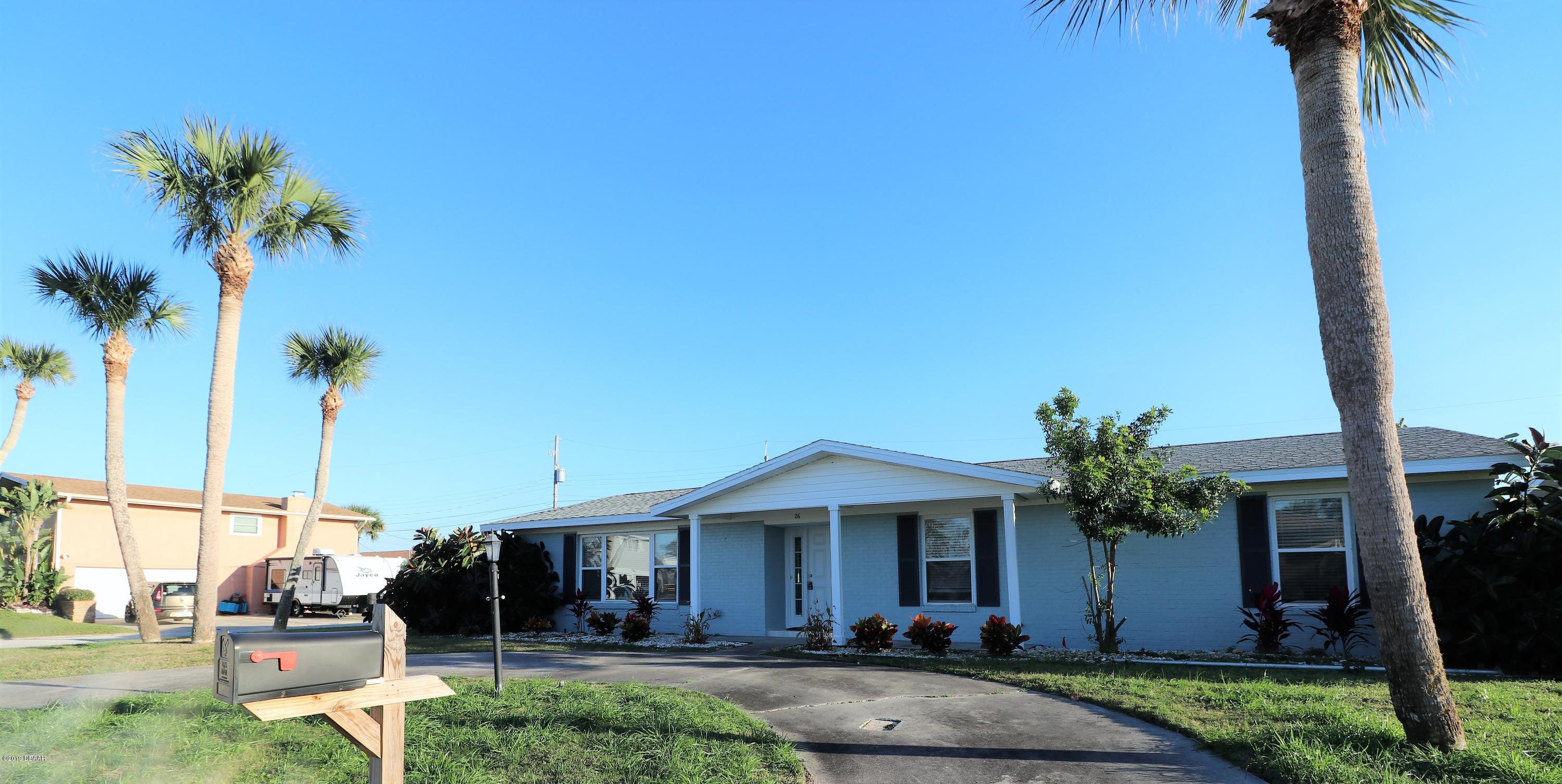 26  Surfside Drive, Ormond-By-The-Sea in Volusia County, FL 32176 Home for Sale