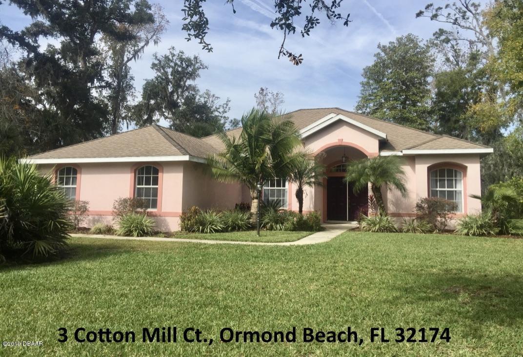3  Cotton Mill Court, Ormond Beach, Florida