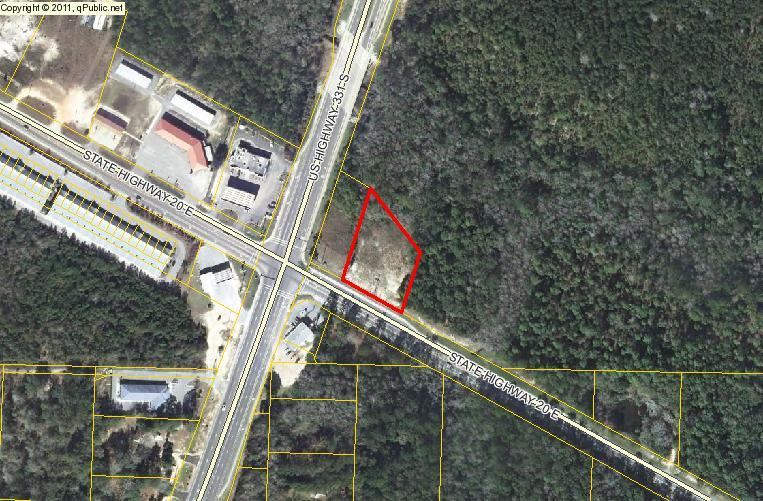 1.05 acres of Commercial C2. 200' on Highway 20. Located at the new 331 bypass and highway 20. Traffic count per DOT website is 11900 per day. Seller will consider financing.