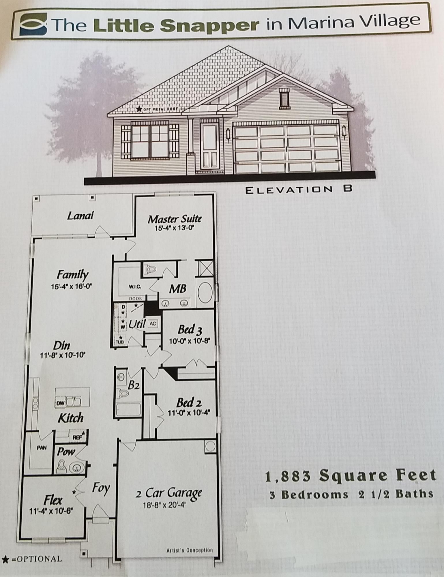 Photo of home for sale at Lot 39 Oak Tree Blvd, Freeport FL